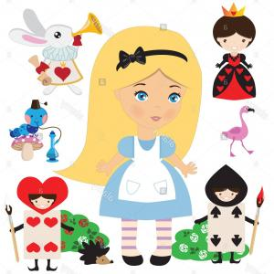 Alice Queen Of Hearts Vector: Alice Wonderland Queen Hearts Yells Off