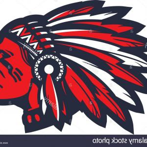 Artwork Vector Logo: Stock Photo American Native Chief Head Mascot Vector Logo Or Icon