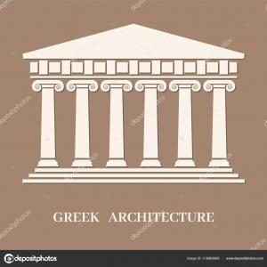 Vector Ancient Temple: Stock Photo Ancient Temple Ruins Illustration Hand Drawing Realistic Style Image