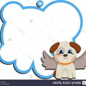 Vector Of Angel Art Dog: Angel With A Dog Vector
