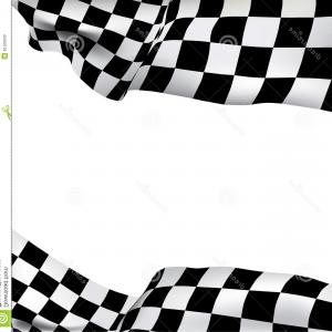 Checkered Flag Background Vector: Stock Illustration Checkered Flag And White Blank