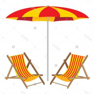 Beach Umbrella Vector Art: Stock Photo Beach Umbrella Chair Vector Summer Isolated White Vacation Season