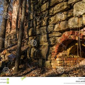 Arch Vector Illinios: Stock Photo Blackball Mines Illinois Remains Pecumsaugan Creek North Utica Usa Image
