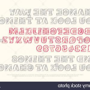 Decorative Font Vector Illustration: Elegant Retro Graphical Decorative Font Vector