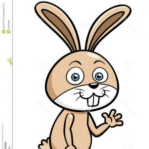 Animated Bunny Face Vector: Cute Baby Rabbit Cartoon Vector