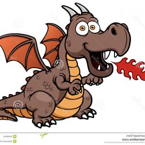 Dragon Fire Vector: Stock Photo Cartoon Dragon Fire Vector Illustration Image