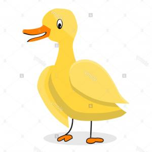 Cartoon Duck Vector: Cartoon Flat Vector Rubber Duck Gm