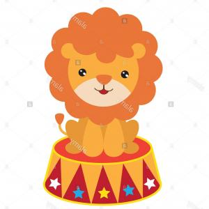 Cute Vector Art Circus Circus: Stock Photo Circus Lioncircus Animalcutefunnycartoonillustrationisolatedvector