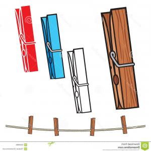 Vector Clothes Pins: Stock Photo Clothespin Rope Clothes Pegs Image