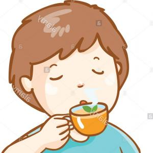 Teas Drinks Vector: Photostock Vector Vector Illustration With Cartoon Non Alcoholic Beverages Background Glasses With Cartoon Drinks Wate
