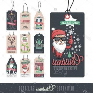 Vintage Xmas Sale Tag Vector: Stock Photo Collection Of Vintage Christmas Sales Related Hang Tags