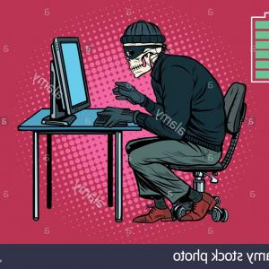 Play Vector Hacked: Stock Photo Dead Skeleton Hacker Hacked Computer Pop Art Retro Vector Illustration