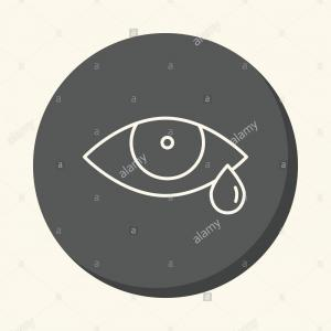 Vector Metal Tear: Stock Photo Eye And Tear Vector Round Icon With The Illusion Of Volume Simple