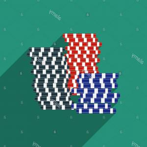 Gambler Vector Art Images: Stock Photo Flat Design Vector Gambling Chips Icon With Long Shadow