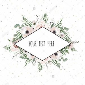 Rustic Floral Vector: Stock Photo Floral Vector Frame With Place For Your Text Vector Elegant Watercolor