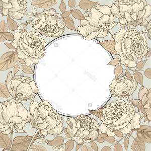 Victorian Vector Backgrounds: Stock Photo Flower Frame Floral Vintage Background In Vintage Victorian Style