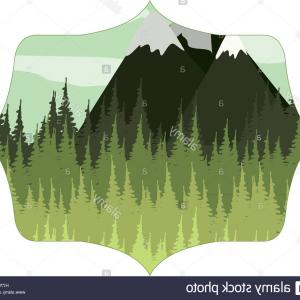 Snowy Mountain Vector Graphics: Stock Illustration Winter Snowy Mountains Vector Flat