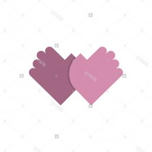 Friendship Symbol Vector: Stock Photo Friendship Logo Palm Emblem Two Hands Symbol