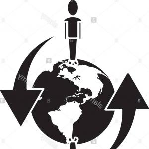 Global People Vector: Stock Photo Global People Connected Communication Network Around Pictogram