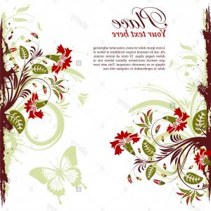 Lace Border Vector Clip Art Butterfly: Stock Photo Grunge Floral Frame With Butterfly Element For Design Vector Illustration