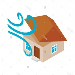 Hurricane Vector Art: Stock Photo House Destroyed By Hurricane Icon