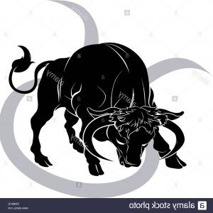 Taurus Vector: Ornamental Zodiac Sign Taurus Vector Clipart