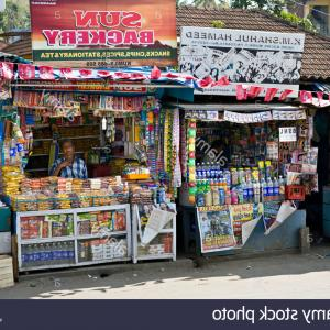 Vector Newspapers Snacks: Stock Photo A Cluttered Manhattan Newsstand Selling Newspapers Magazines Snacks