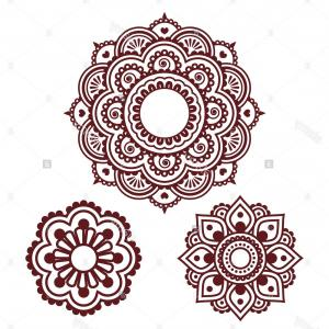 Vector Art Henna: Abstract Floral Background With Mehndi Ornament Vector Clipart