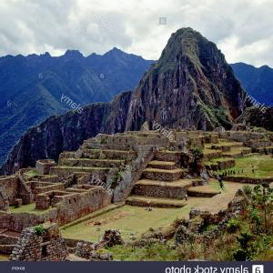 Vector South America Ancient Ruins: Stock Photo Machu Picchu Ancient Inca Town Incan Ruins Unesco World Heritage Site