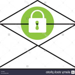 Mail Vector Graphic: Stock Photo Mail Envelope And Lock Icon Vector Graphic