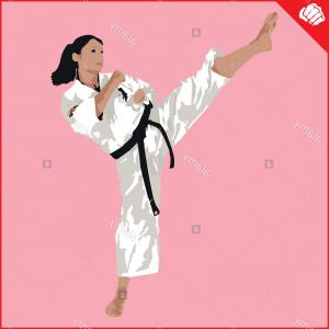 Karate Vector: Kid Doing Karate Vector Cartoon Illustration Riicnmd Jgrjxdj