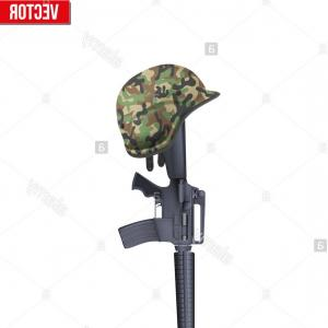 Vector Rifle And Boots: Army Soldier Camouflage Green Combat Uniform
