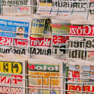 Vector Newspapers Snacks: Stock Photo Newspapers Istanbul Turkey