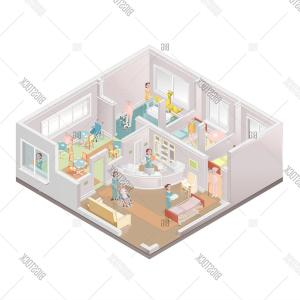 Nursing Home Building Vector: Stock Photo Nursing Home Assisted Living Facility Illustration