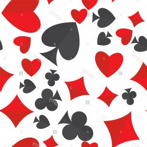 Spade Card Vector: Stock Photo Playing Cards Suits Seamless Pattern Heart Diamond Club And Spade