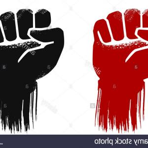 Black Power Fist Vector: Photothe Raised Fist Symbolizes Revolution And Defiance It Is Used By Various Movements Including Black P