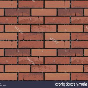 Wall Background Vector: Stock Photo Red Brick Wall Seamless Texture Background Vector Illustration Pattern