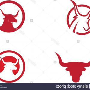Taurus Vector: Stock Photo Red Bull Taurus Logo Template Vector Icon Illustration