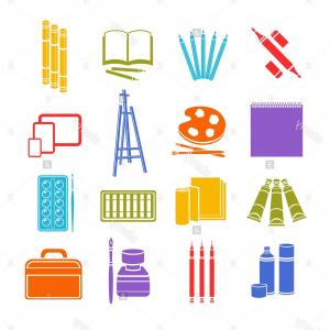 Supplies Vector Graphic: Set Of School Tools And Supplies Vector