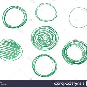 Vector Artist Marker: Stock Photo Set Of Hand Drawn Circles Vector Logo Design Elements Marker Felt