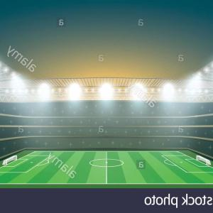 Vector Sport Spot: Stock Photo Soccer Stadium With Spot Light Vector