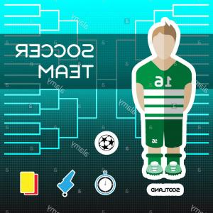 Fanboys Vector: Stock Photo Soccer Team Scotland Football Players Scoreboard Vector Digital Illustration