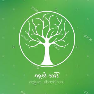 Organic Tree Vector: Abstract Organic Tree Logo Design Vector