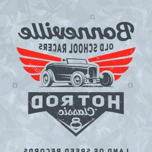Hot Rod T-Shirt Designs Vector: Stock Photo Vintage American Hot Rod Car For Printing With Grunge Texture Vector