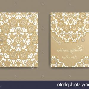 White Lace Vector: Stock Photo Wedding Invitation Decorated With White Lace Vector Background Divider
