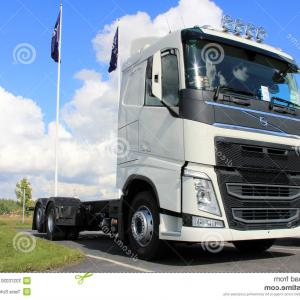 Volvo FH Vector: Editorial Photo Volvo Fh Tank Truck Transports Flammable Goods Salo Finland January Hauls Adr Label Stands Sodium Chlorate Image
