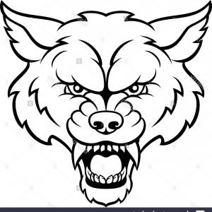 Calm Wolf Vector: Stock Photo Wolf Sports Mascot Angry Face