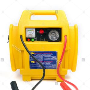 Vector Car Booster: Stock Photo Yellow Car Battery Booster Charger Isolated On White Background