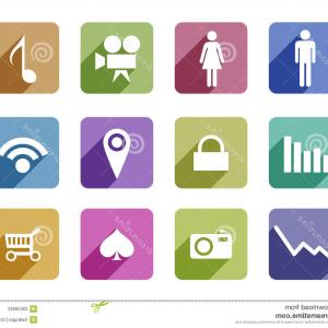 Vector Icons For Designers: Abstract Flat Vector Icons Of Design And Development Concepts Elements For Mobile And Web Applications Hxnxfxdceizrdkxe
