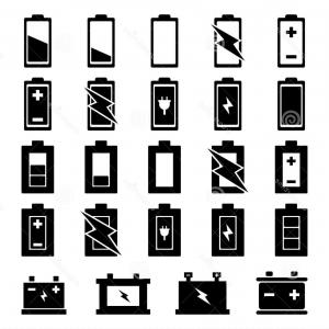 IPhone Battery Vector Icons: Stock Photos Battery Icon Set Image
